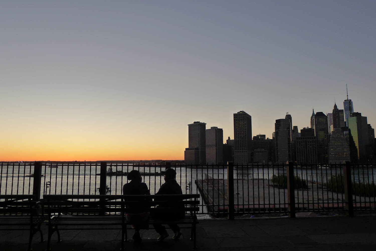 watched the sun set from the brooklyn heights promenade today u0027s