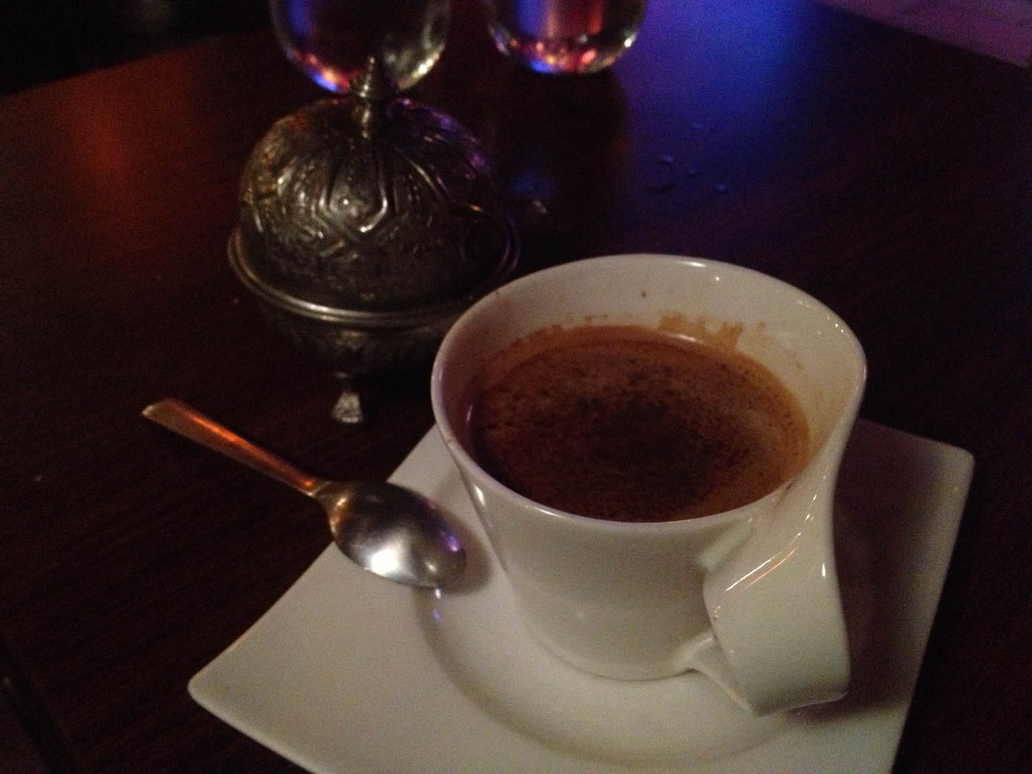 We finished with a thick, strong Moroccan coffee