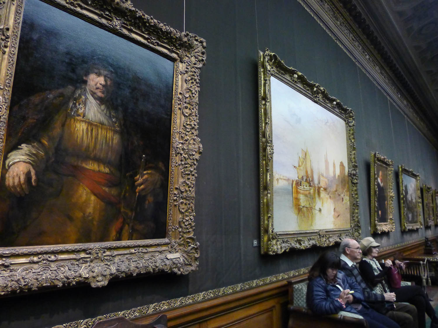 Rembrandt, left, Turner, right
