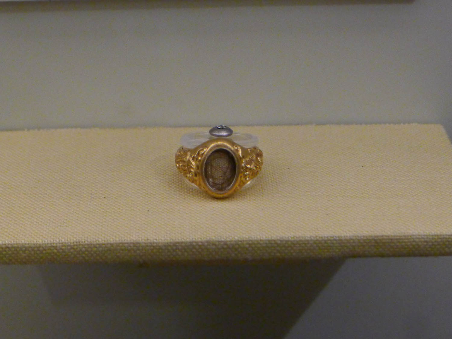 A ring with a strand of Lincoln's hair