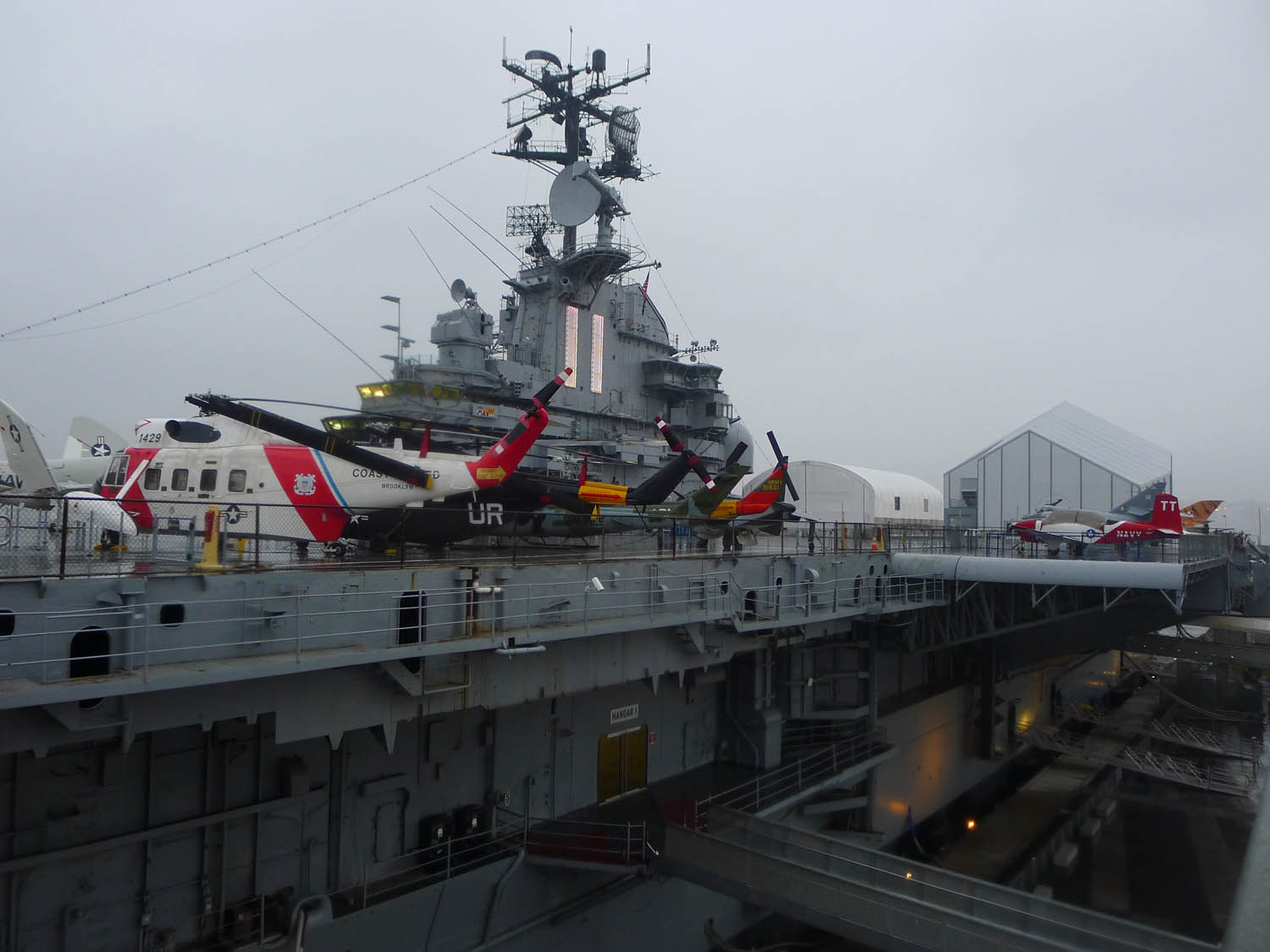 …went aboard the USS Intrepid
