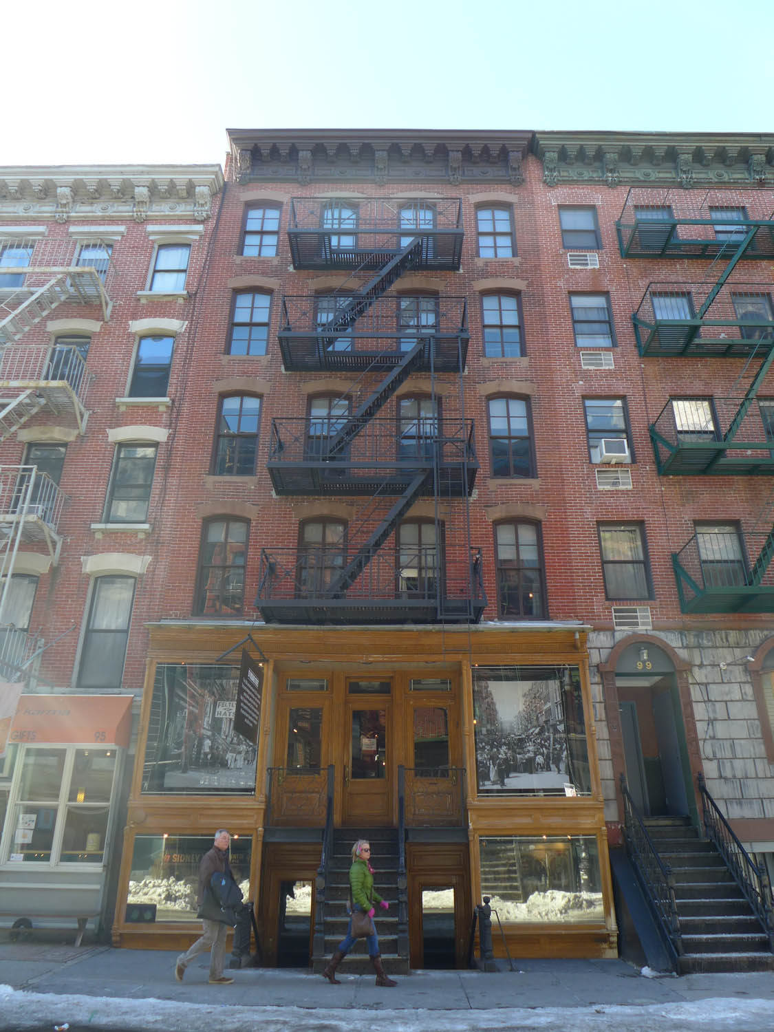Last time I was here, I toured the ground floor of the museum's tenement building