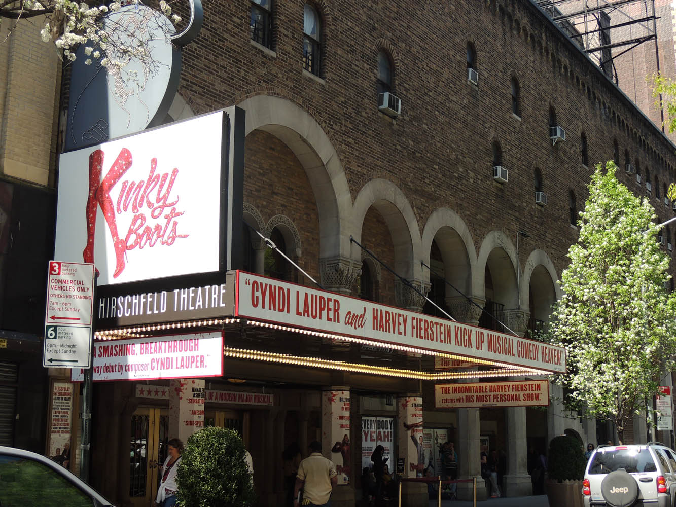 Al Hirschfeld Theatre (this is obvi an old pcture, I've not seen greenery in months)