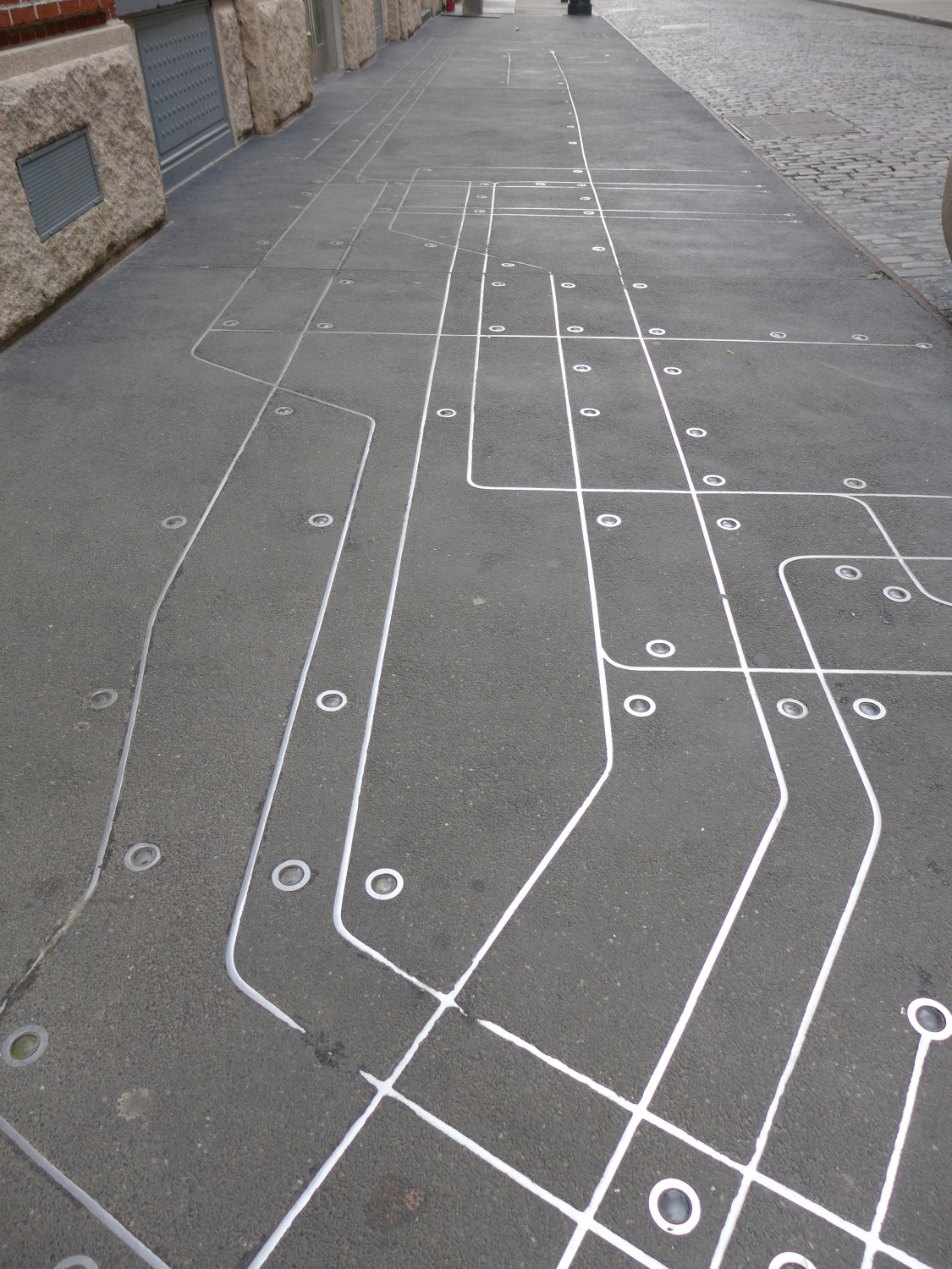 Subway Map Floating On A New York Sidewalk.Saw A Subway Map Embedded In The Sidewalk Today S The Day I